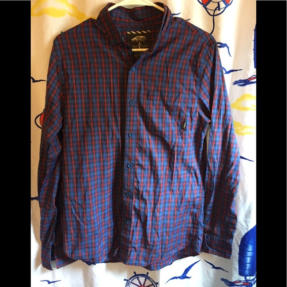 c4a70411 Vans (Johnny Layton) Plaid Long Sleeve Shirt Sz S